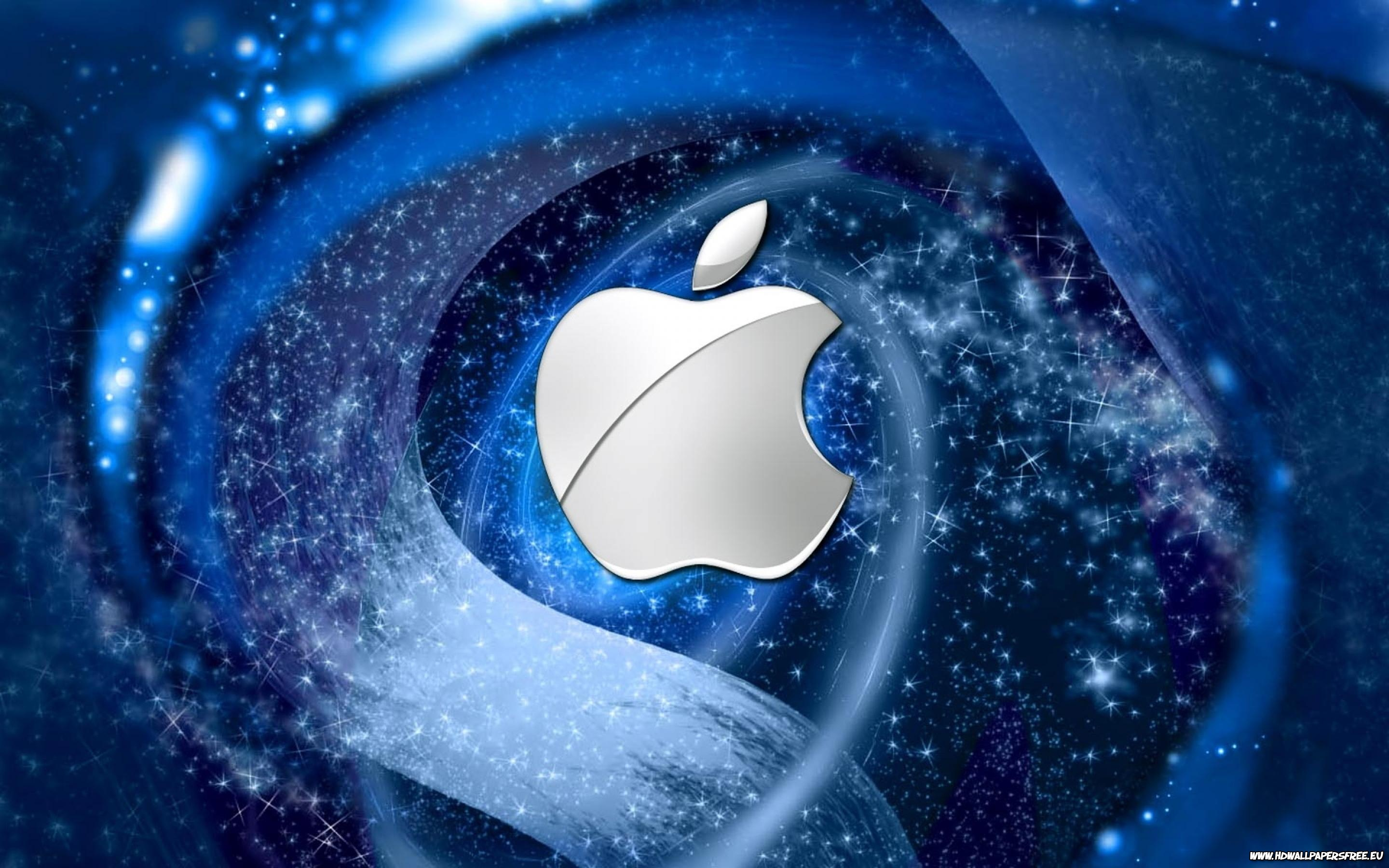 Apple Logo Wallpapers HD blue stars