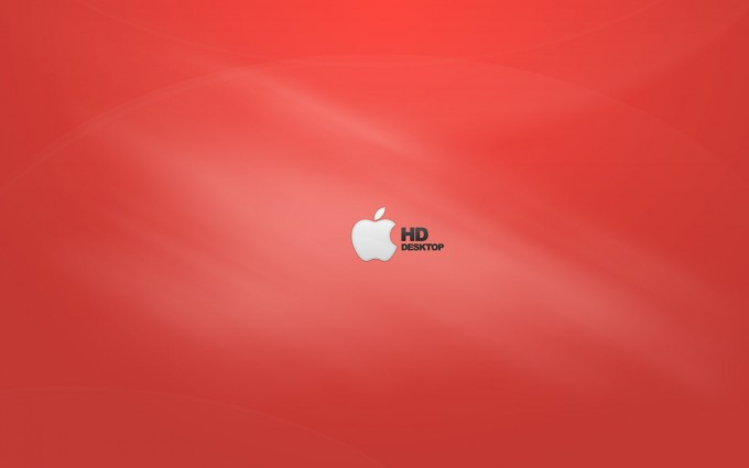 Apple Logo Wallpapers HD orangish red