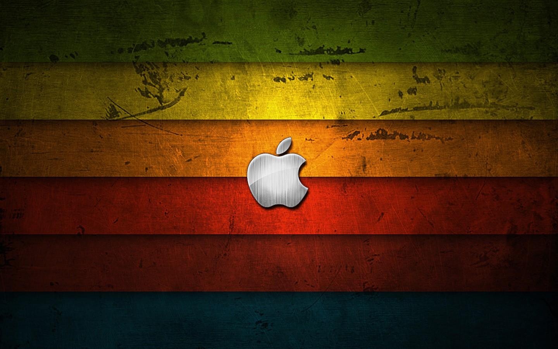 Apple Logo Wallpapers HD rainbow wood