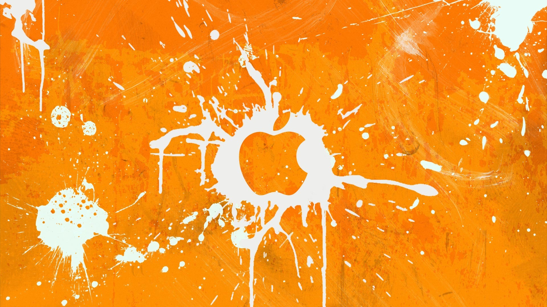 Apple Logo Wallpapers HD orange