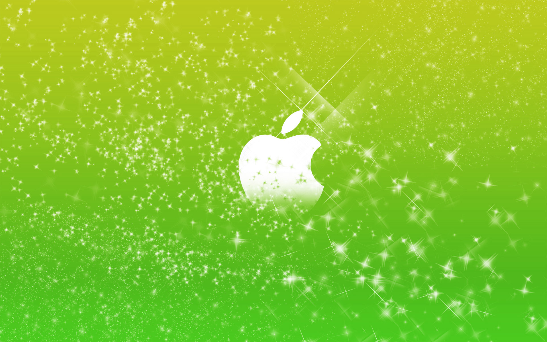 Apple Logo Wallpapers HD green stars