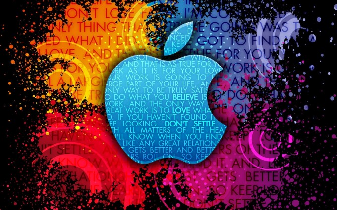 Apple Logo Wallpapers HD rainbow fonts