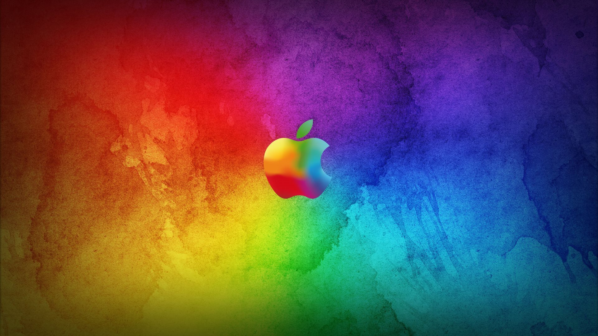 Apple Logo Wallpapers HD rainbow art