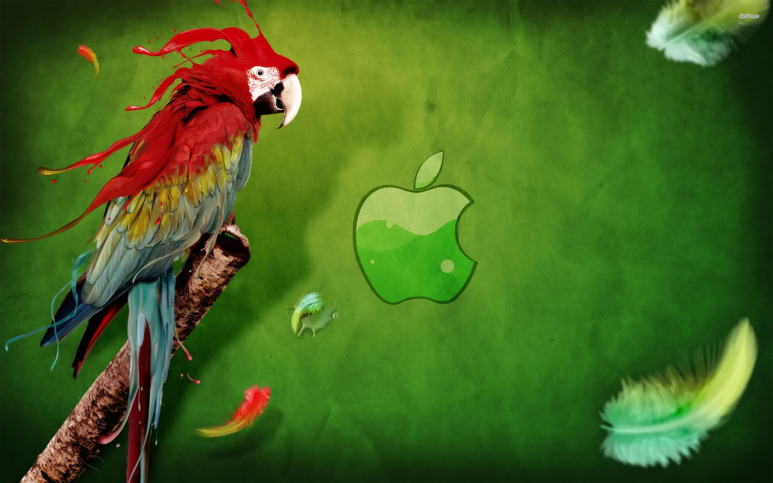 Apple Logo Wallpapers HD parrot