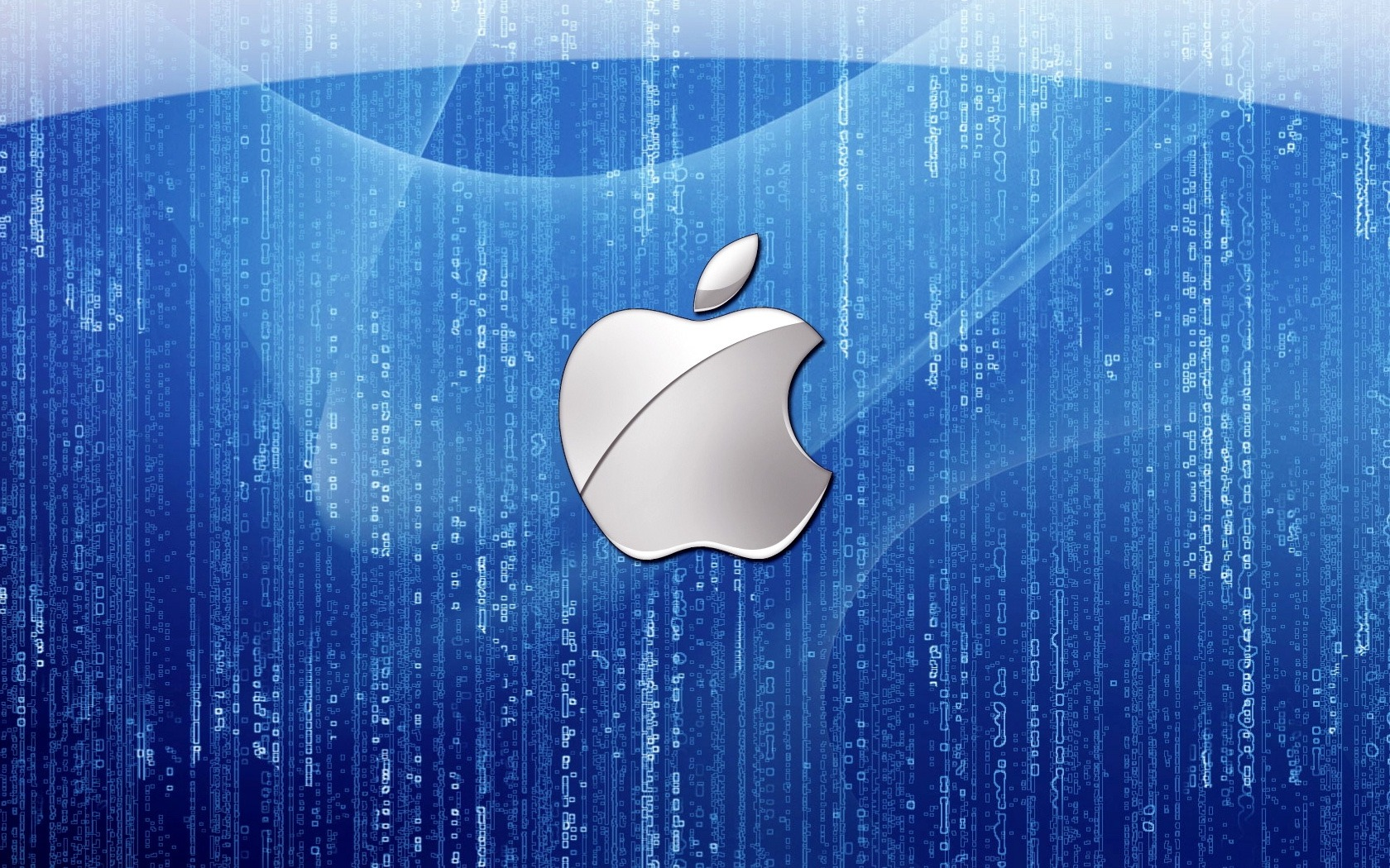 Apple Logo Wallpapers HD blue matrix