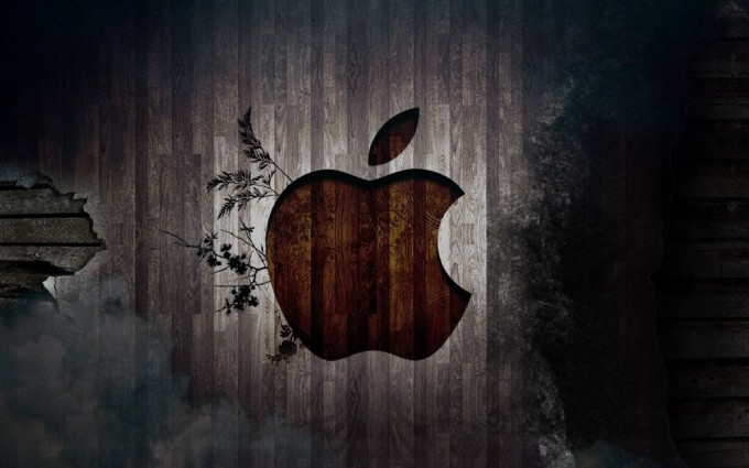 Apple Logo Wallpapers HD brown mobile