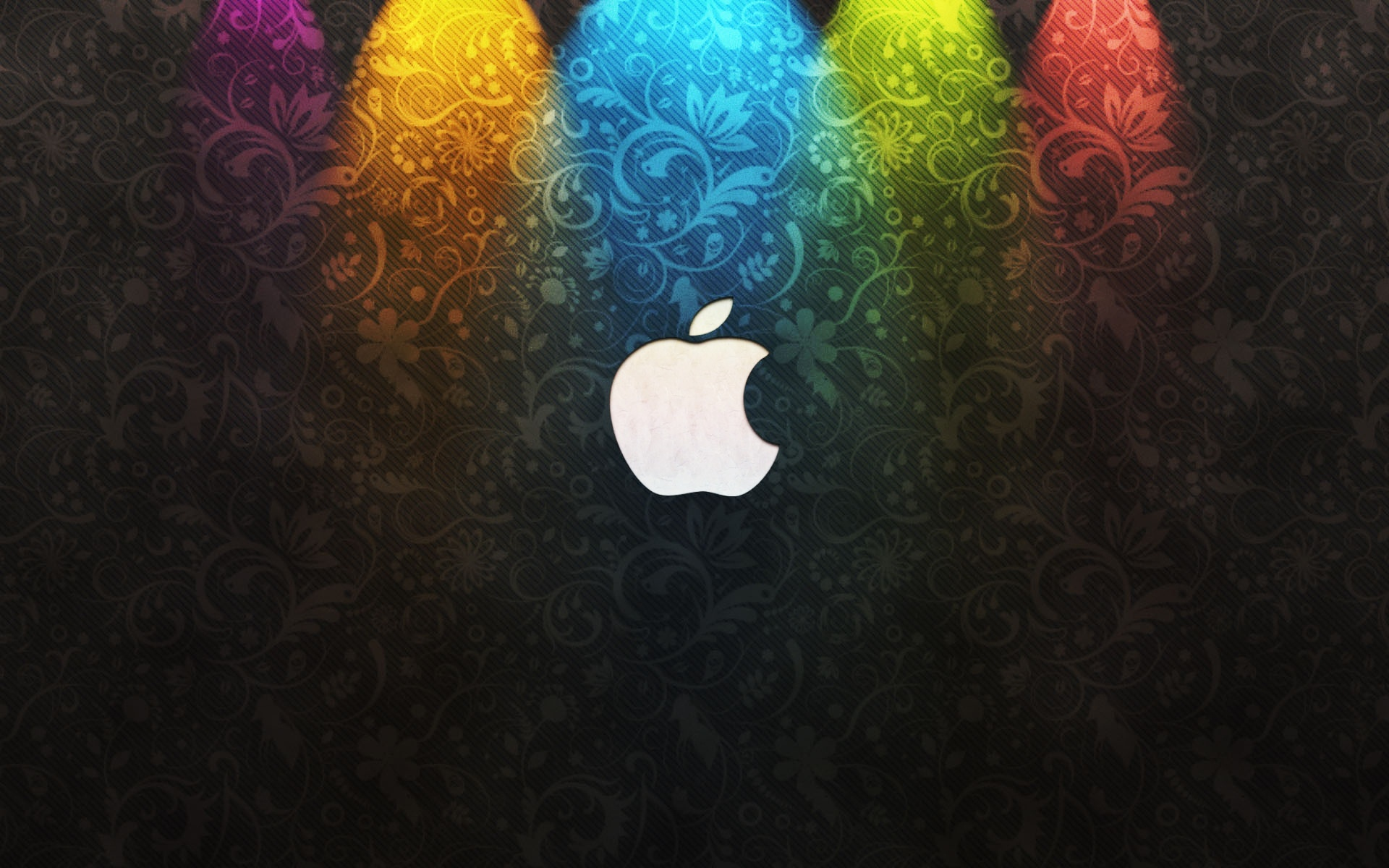 Apple Logo Wallpapers HD rainbow lights