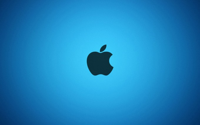 Apple Logo Wallpapers HD blue