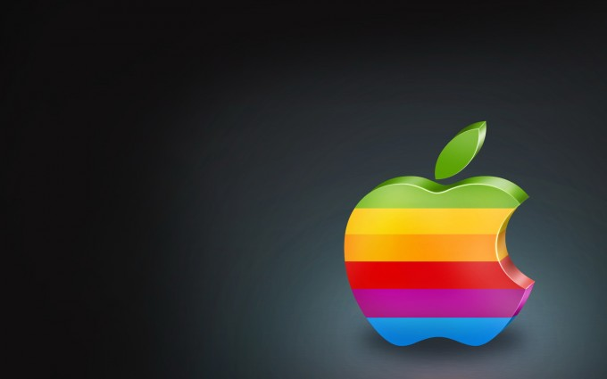Apple Logo Wallpapers HD rainbow close up