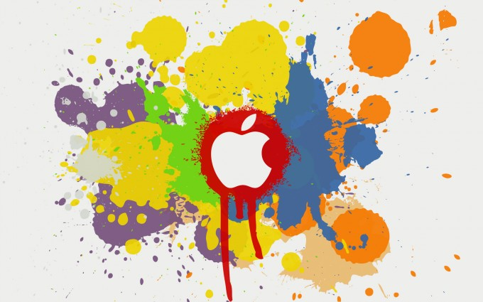 Apple Logo Wallpapers HD colorful drops