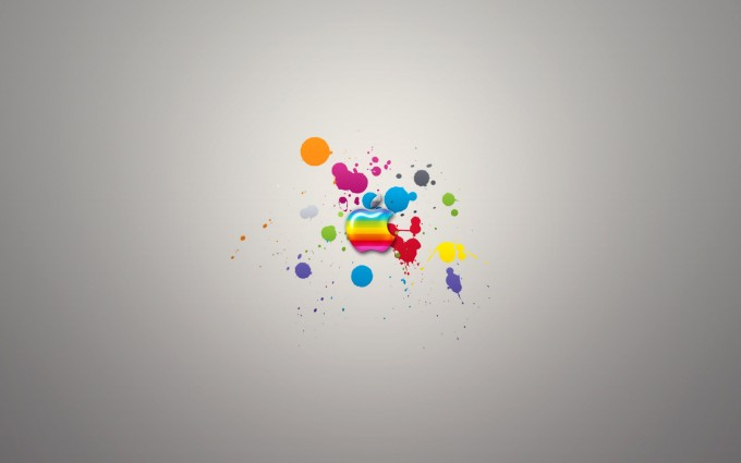 Apple Logo Wallpapers HD colorful