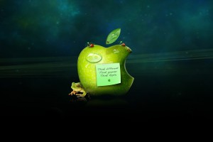Apple Logo Wallpapers HD green