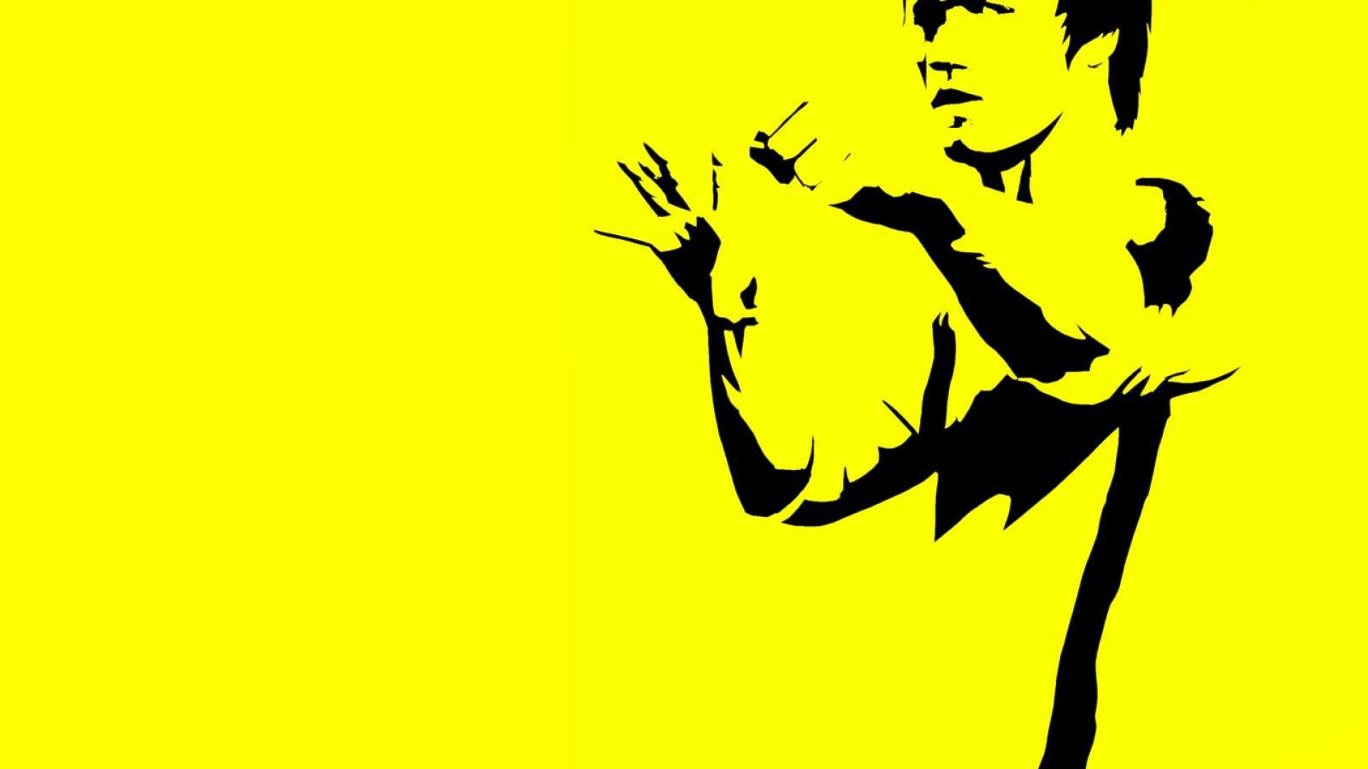 Bruce Lee Wallpapers HD yellow shirt background