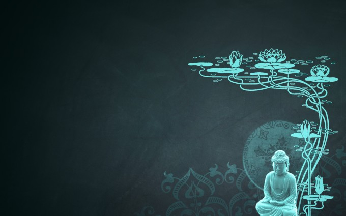 Buddha Wallpaper pictures HD cyan