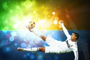Cristiano Ronaldo Wallpapers HD flying kick