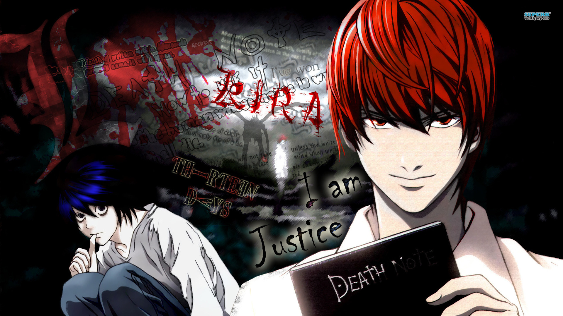 Death Note Wallpapers kira note book