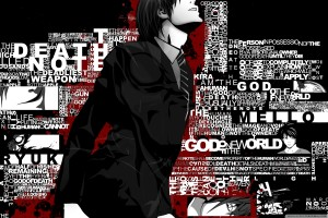 Death Note Wallpapers kira black background