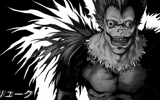 Death Note Wallpapers Ryuk black and white