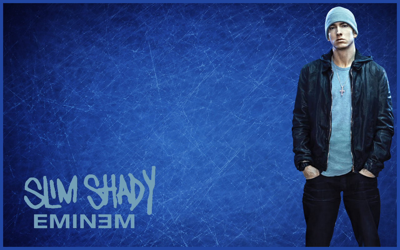 Eminem Wallpapers HD blue beanie