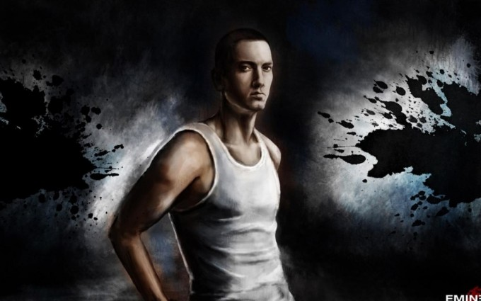 Eminem Wallpapers HD white vest