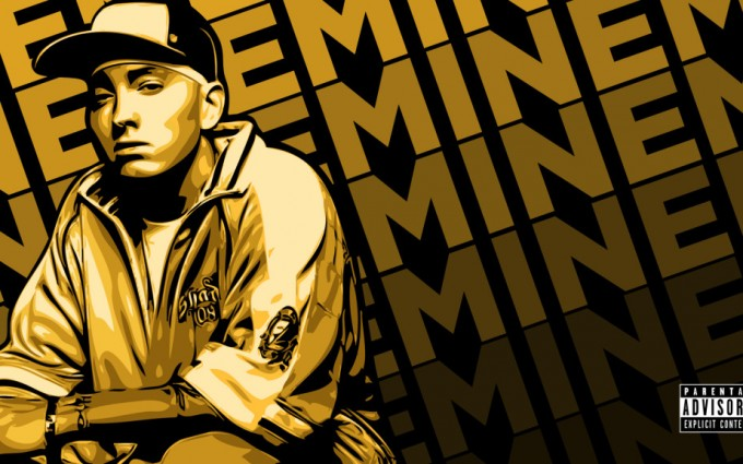 Eminem Wallpapers HD text background