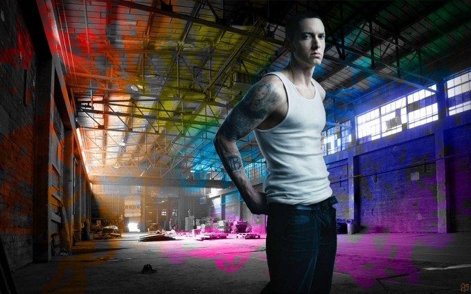 Eminem Wallpapers HD colorful right