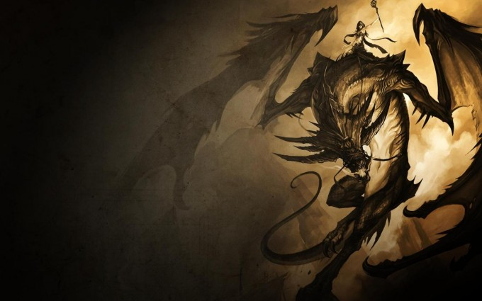 Gold Wallpapers dragon