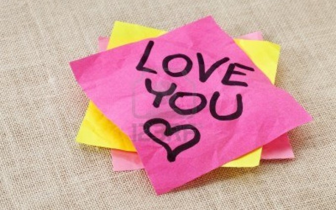 I Love You Wallpapers sticky paper