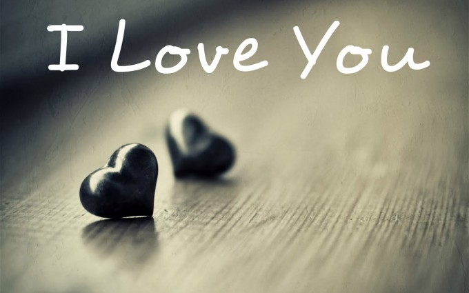 I Love You Wallpapers black heart