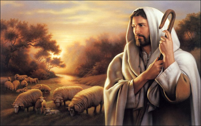 Jesus Wallpapers Images HD sheeps