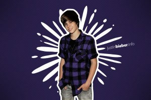 Justin Bieber wallpapers purple checked shir