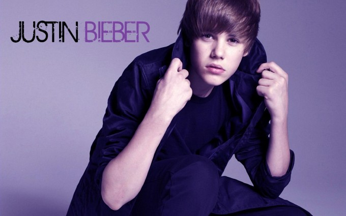 Justin Bieber wallpapers purple fonts