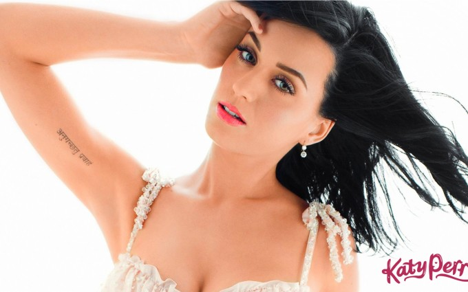 Katy Perry Wallpaper white dress