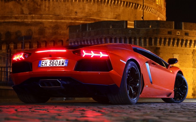 Lamborghini Aventador Wallpapers HD A53 Orange - lamborghini aventador desktop sports cars, race cars, luxury cars, expensive cars, wallpapers pictures images free download