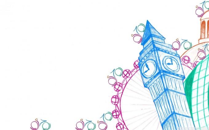 London Wallpapers HD cartoon clock