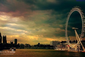 London Wallpapers HD london eye evening