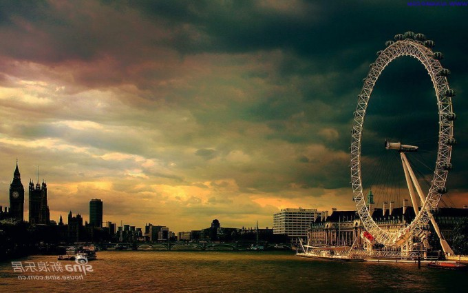 London Wallpapers HD london eye evening