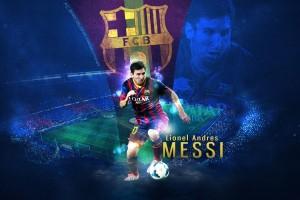 Messi Wallpaper blue