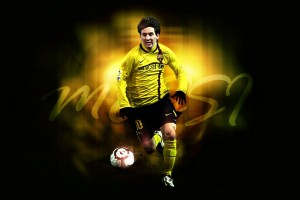 Messi  Wallpaper yellow