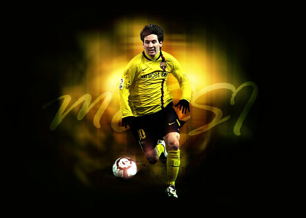 Messi Wallpaper Yellow