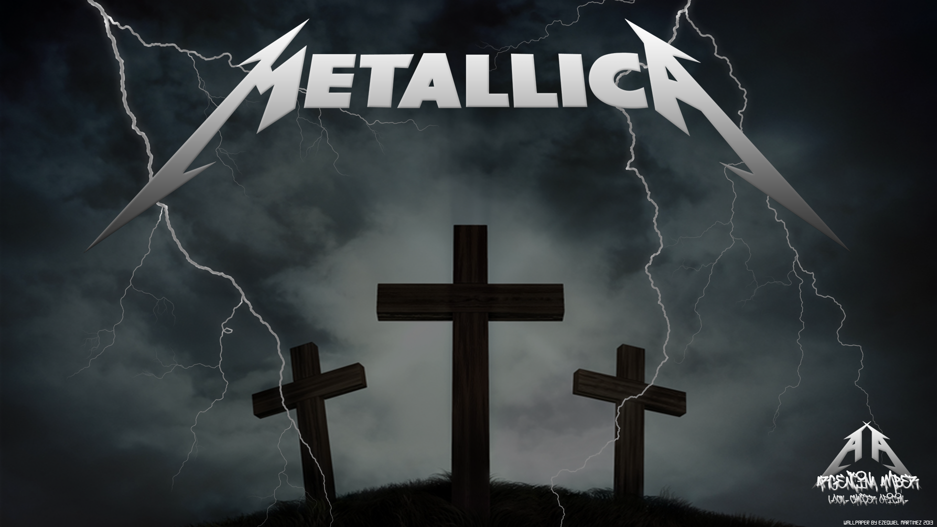 metallica wallpaper cross