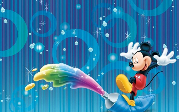 Mickey Mouse Wallpapers rainbow paste
