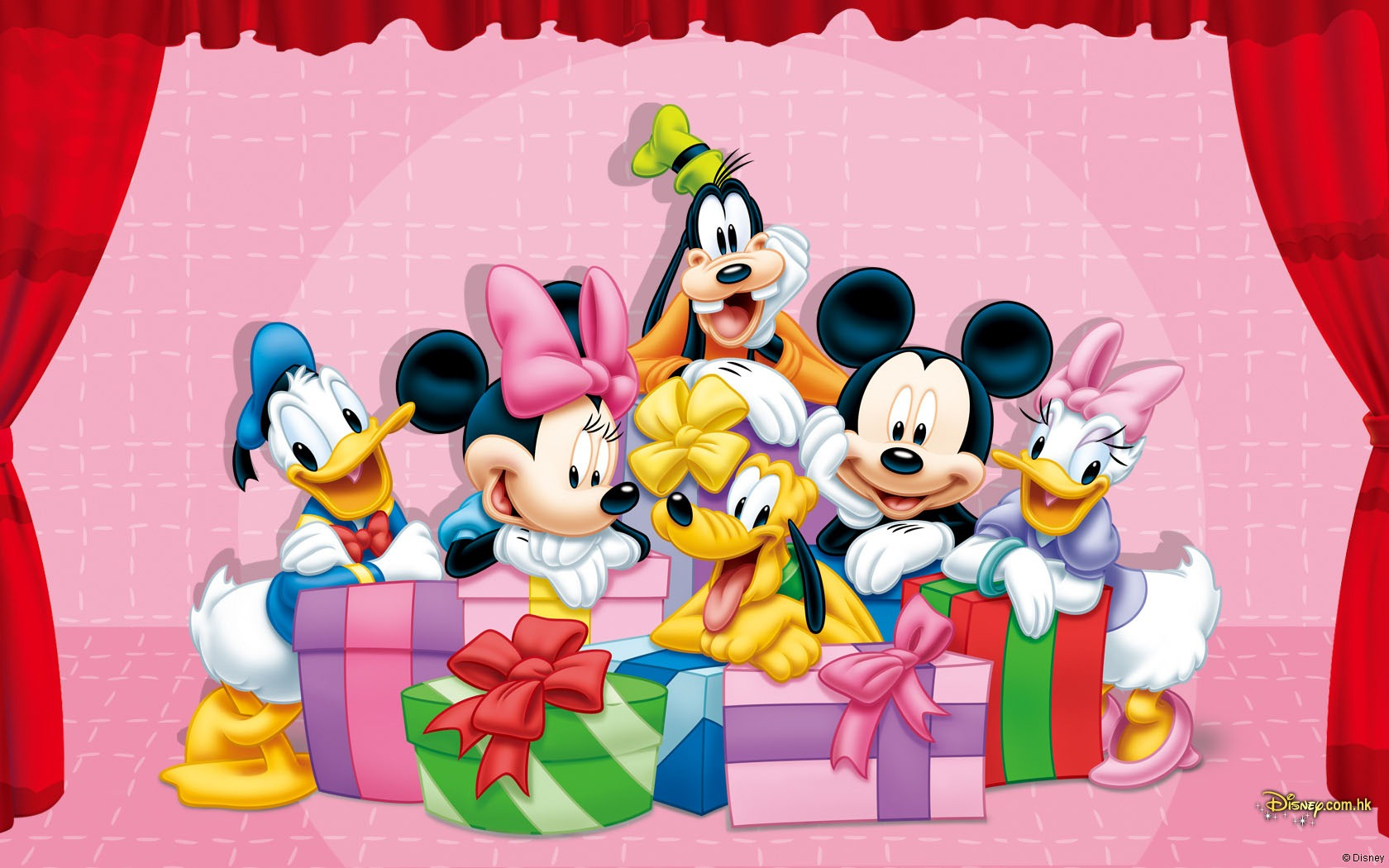 Mickey Mouse Wallpapers red curtains  Wallpaper