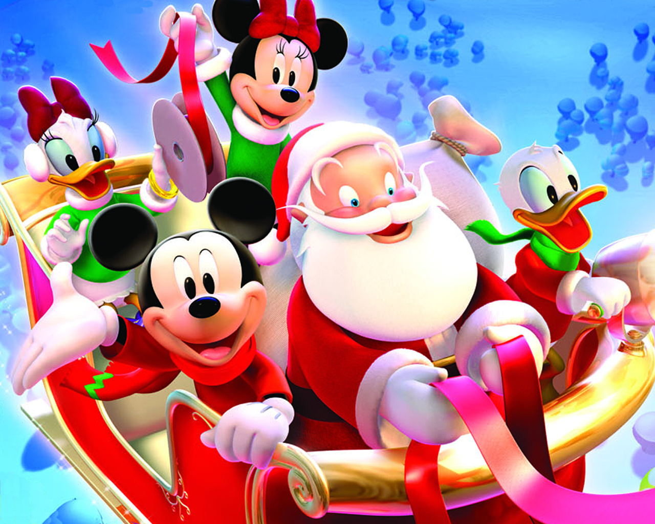 Mickey Mouse Wallpapers santa