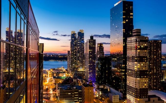 Free New York City Skyline USA America HD Desktop wallpapers backgrounds wall murals downloads A10