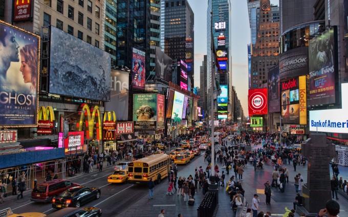Free New York City Skyline streets USA America HD Desktop wallpapers backgrounds wall murals downloads A1