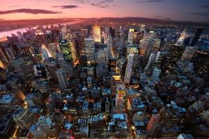Free New York City Skyline Night Life lights USA America HD Desktop wallpapers backgrounds wall murals downloads A23