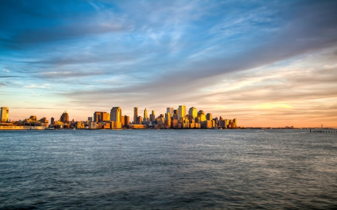 Free New York City USA America skyline HD Desktop wallpapers backgrounds wall murals downloads A5