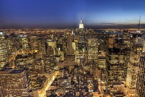 Free New York City Skyline Night Life lights USA America HD Desktop wallpapers backgrounds wall murals downloads A8