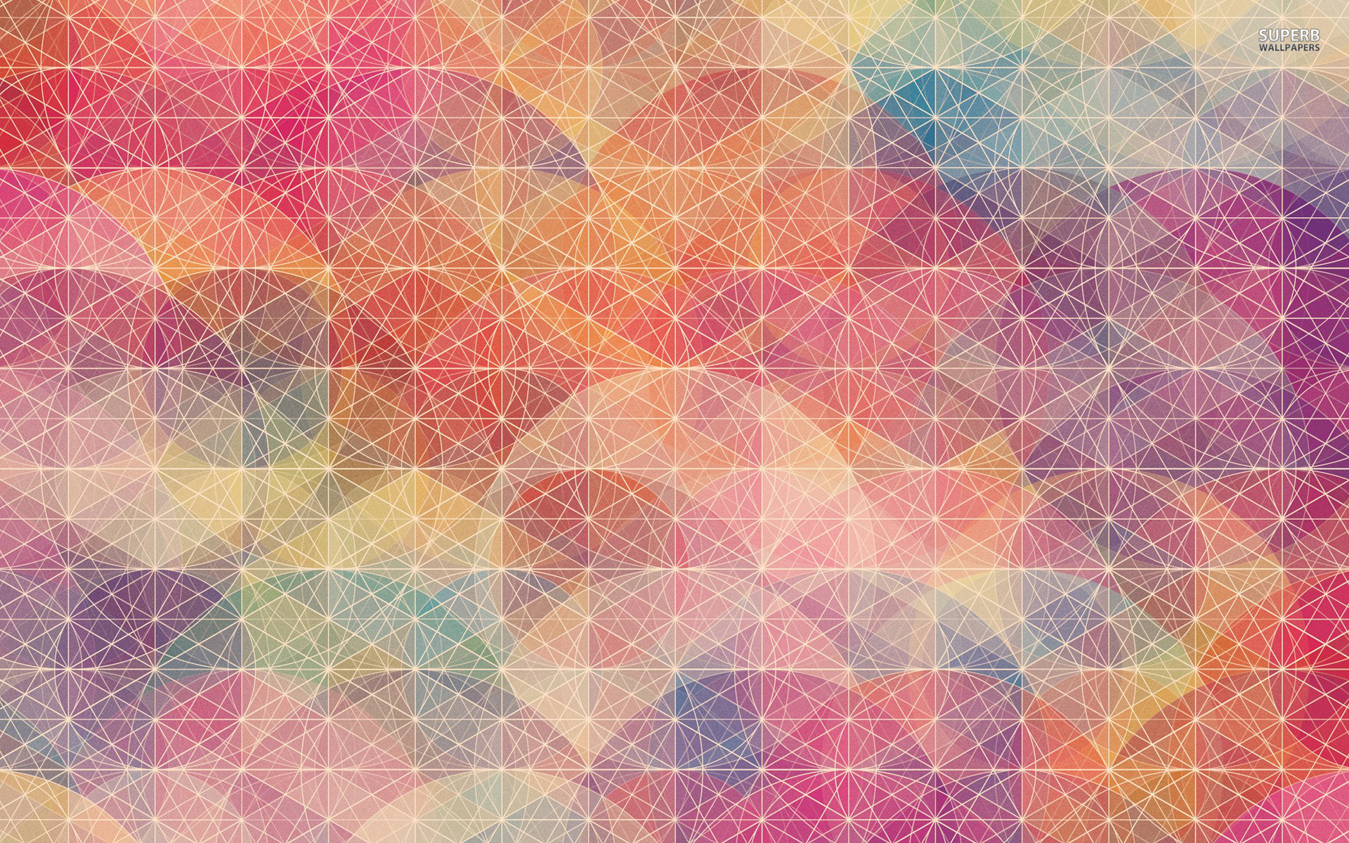 Plain Wallpapers HD rainbow circles